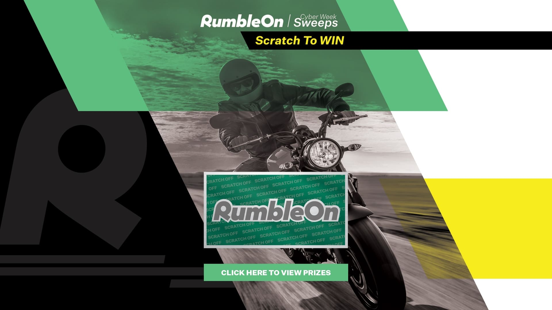 RumbleOn Cyber Week Sweeps Scratch-Off