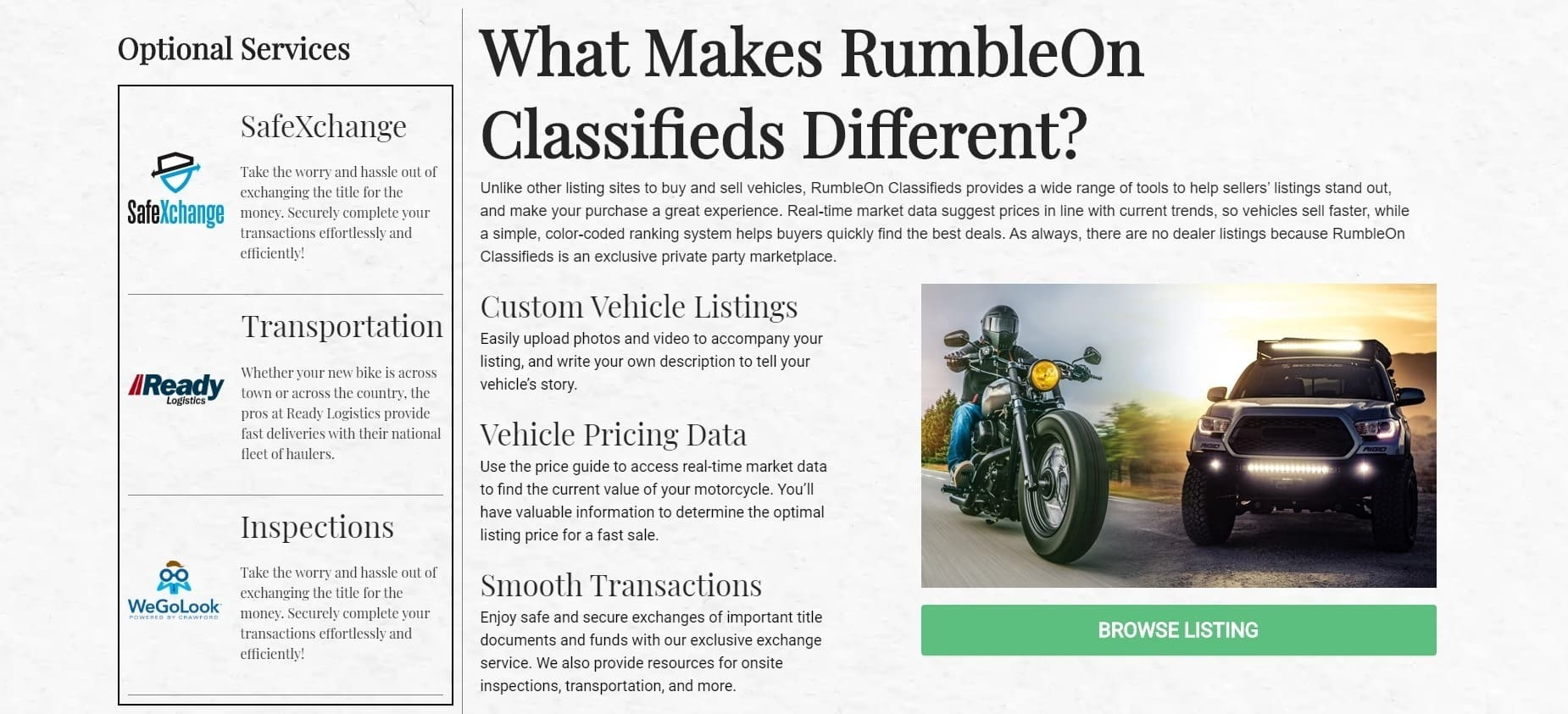 RumbleOn Classifieds